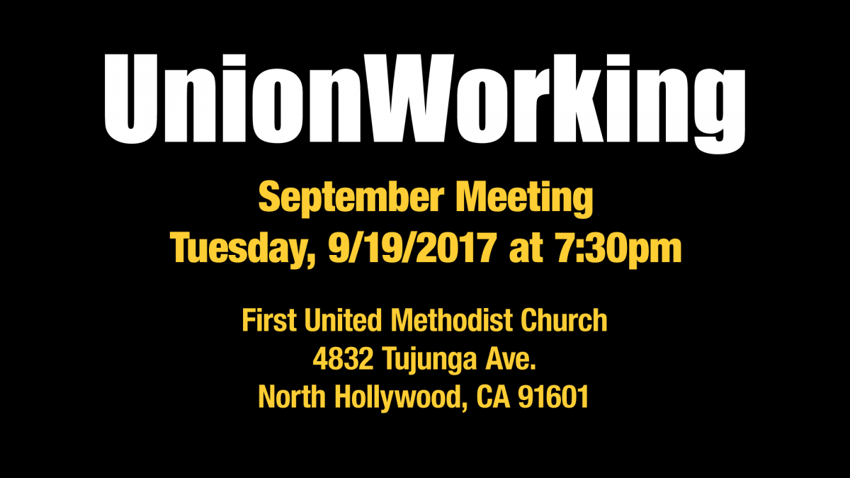 September Meeting with SAG-AFTRA Staff