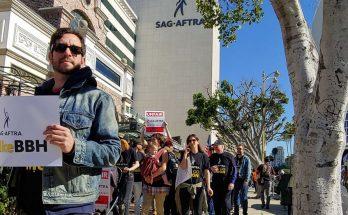 SAG-AFTRA march against BBH