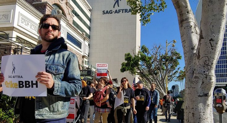 SAG-AFTRA march against BBH
